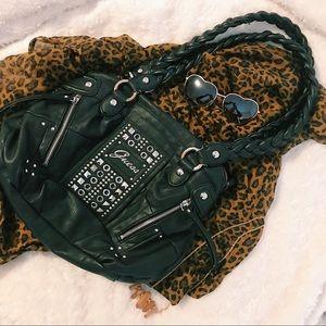 Guess Black Leather looking Handbag